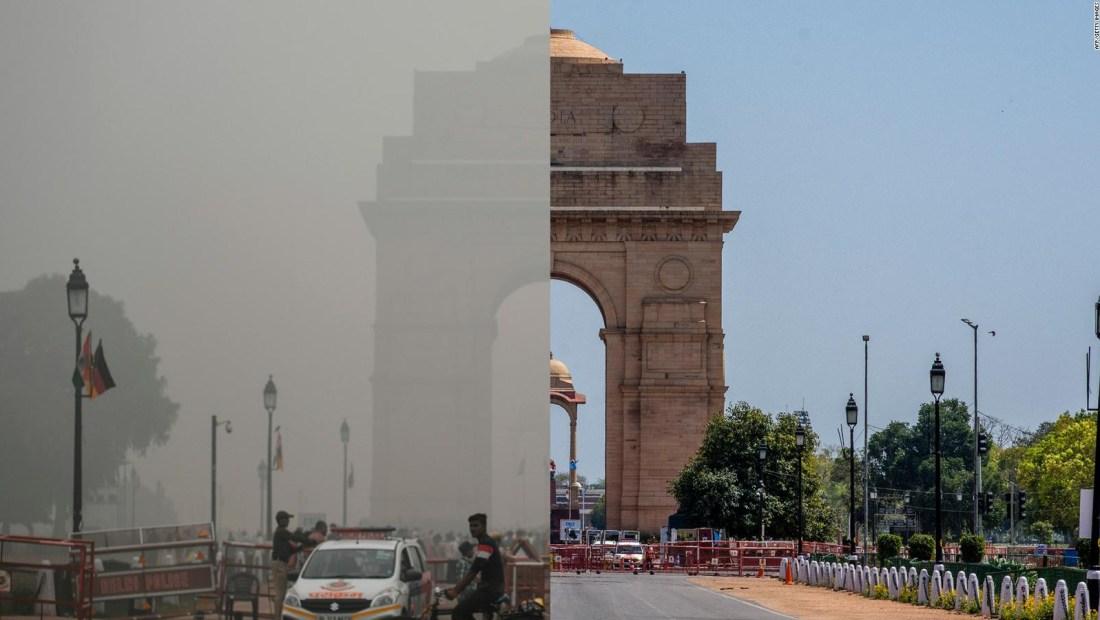 India registra el nivel más bajo de contaminación en 20 años