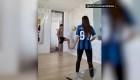 La esposa de Antonio Candreva también sabe dominar la pelota