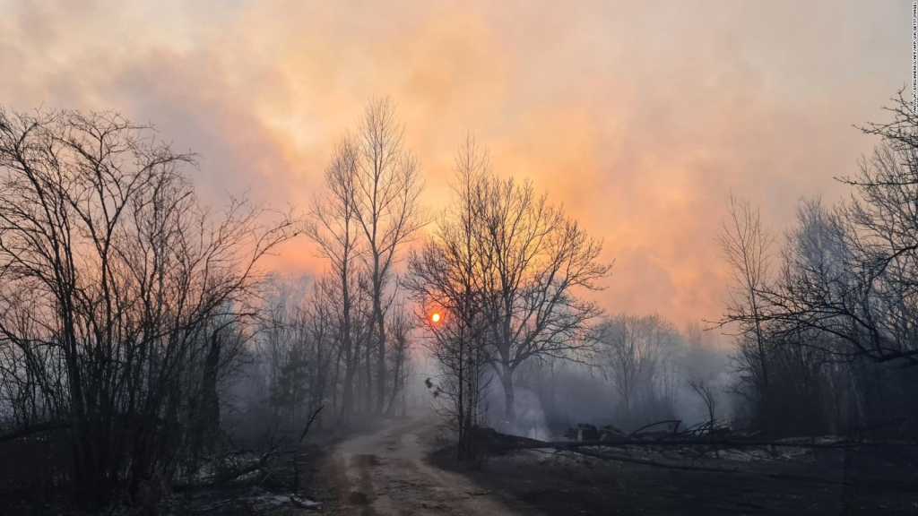 La radiación en Chernobyl aumenta en incendios forestales