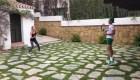 Djokovic y su esposa dan cátedra de tenis