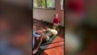 """Cristiano Ronaldo entrena con la """"ayuda"""" de sus hijos"""