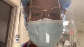 Doctora muestra su día a día en la batalla contra el covid-19