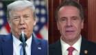 Trump pide a Cuomo actuar; él rechaza aceptar sus órdenes