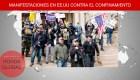 Conservadores y seguidores de Trump protestan contra confinamiento