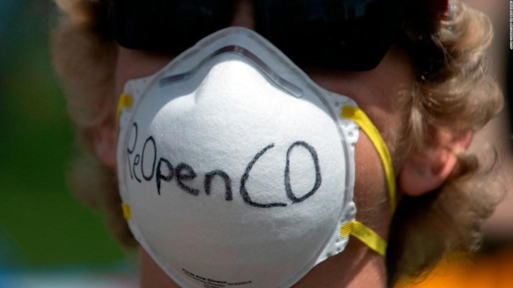 Manifestantes en EE.UU. piden poner fin a la cuarentena por el covid -19