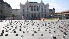 Peculiar manifestación contra el cambio climático en Suiza
