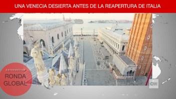 Dron capta soledad en Venecia y más del covid-19 en el mundo