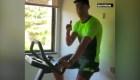 El entrenamiento en bicicleta de Cristiano Ronaldo