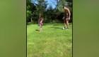 Primeros pasos del hijo de Érik Lamela en el fútbol