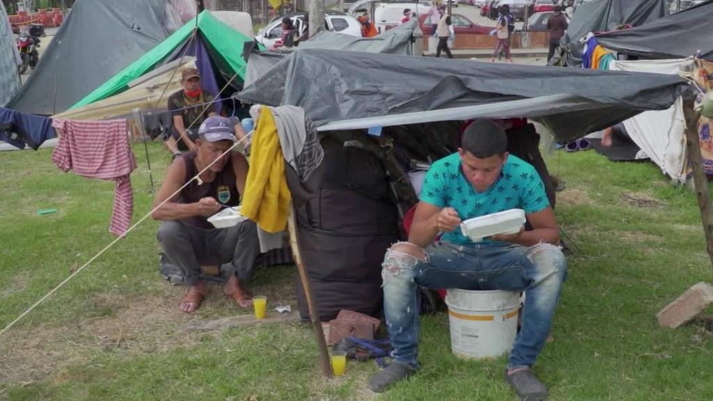 El día a día de los venezolanos varados en Colombia