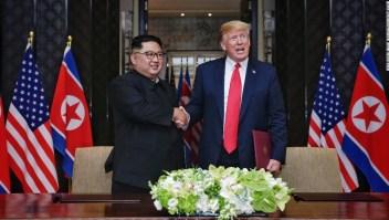 Trump dice que no sabe si Kim Jong Un está enfermo pero le desea suerte
