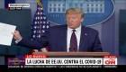 Trump dice que dio negativo en segunda prueba de coronavirus