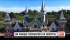 Un parque de diversiones convertido en hospital en la provincia de Buenos Aires