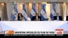 Argentina oficializa su oferta para reestructurar su deuda baja legislación internacional