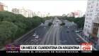Un mes de cuarentena obligatoria en Argentina