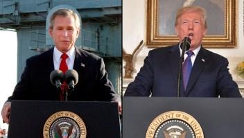 Trump ataca a George W. Bush por pedir unidad