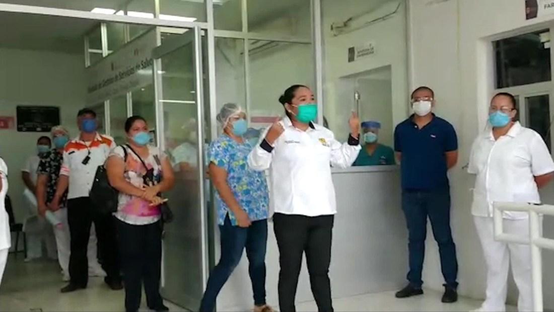 Covid-19: Así fue la protesta de personal médico en Chiapas