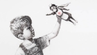 Nueva superheroína en la obra Banksy