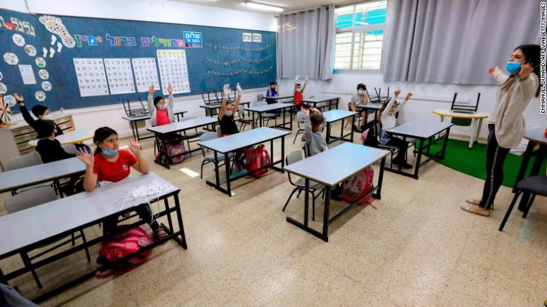 coronavirus-educación-Israel-distanciamiento social