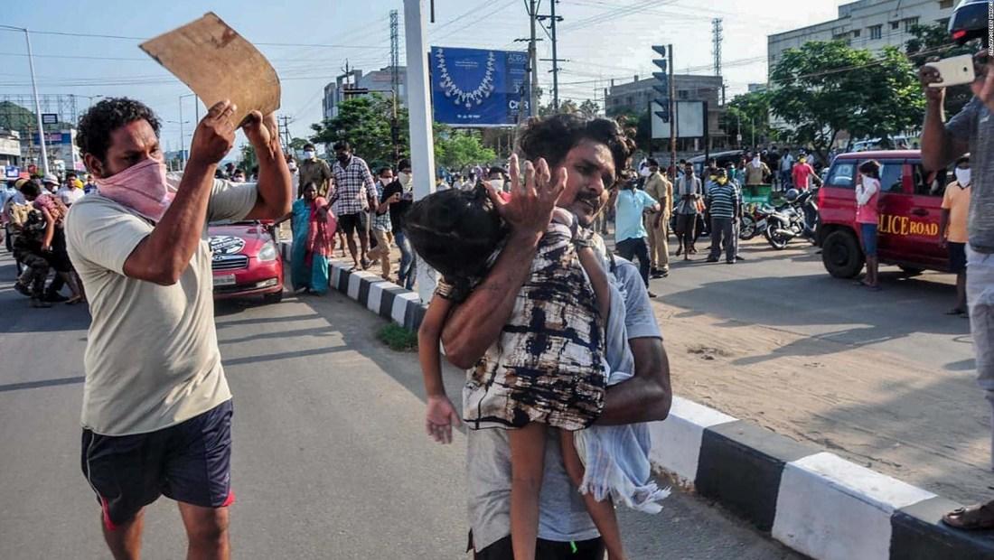 India: múltiples muertos por fuga de gas en planta química