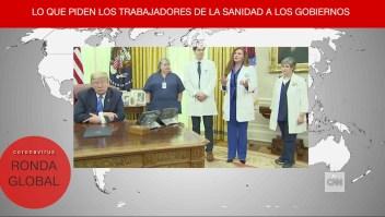 Trump contradice reclamo de enfermera y más del covid-19