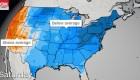 Frío en el este y calor en el oeste de EE.UU.