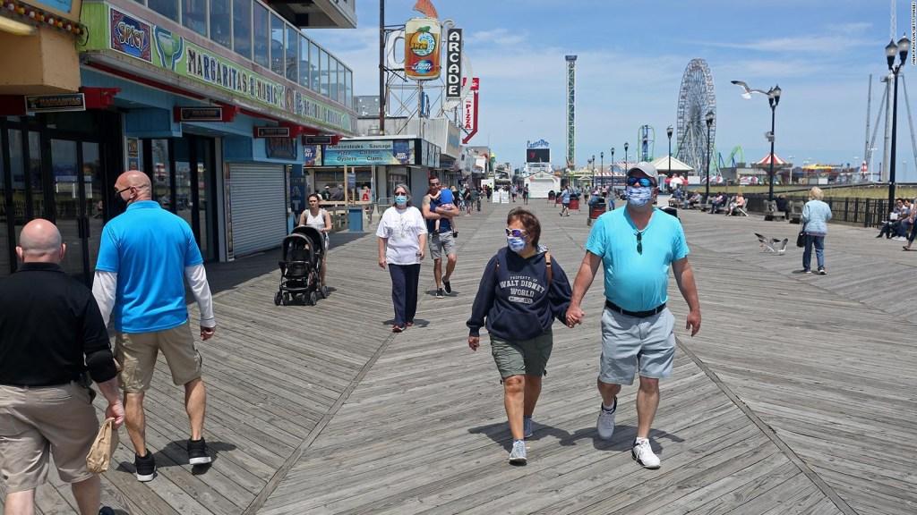 Playas de Nueva Jersey reabren con medidas de salud
