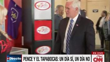 Vicepresidente Mike Pence vuelve a no usar mascarilla
