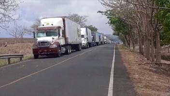 Transportistas en frontera de Costa Rica advierten sobre el desabastecimiento