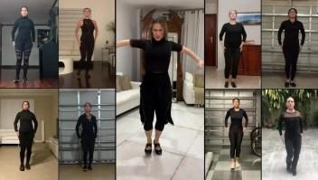 Siudy Garrido practica flamenco a distancia
