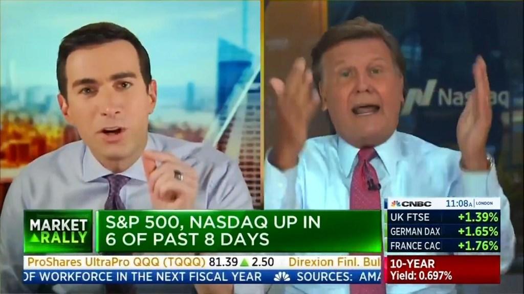 Presentadores de CNBC tienen un airado intercambio al aire