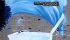 Crean mural gigante en honor al personal de salud