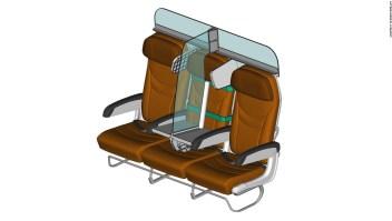 Este diseño de asiento de avión ayudaría a la distancia social a bordo
