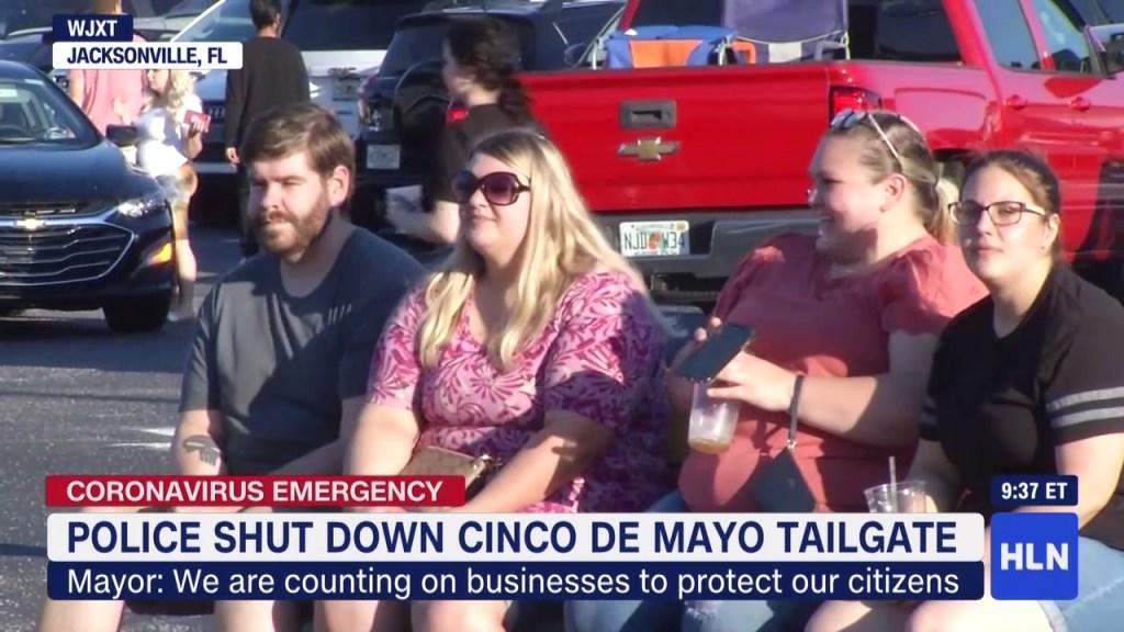Policía de Jacksonville suspende una fiesta de 5 de mayo