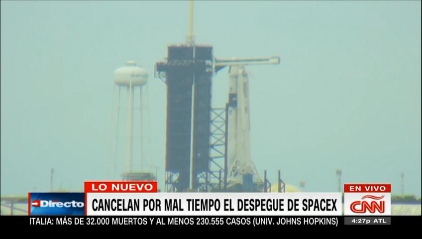 Cancelan por mal tiempo el despegue de SpaceX
