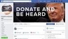 Facebook retira anuncios de Trump por considerarlos ofensivos