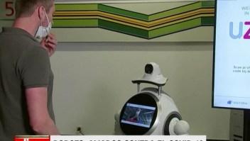 Robots, aliados contra el covid-19