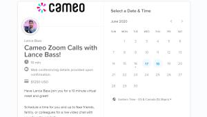 ¿Cuánto pagarías por hablar con una celebridad en Zoom?