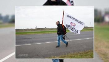 Caminó 386 km pidiendo justicia para su hijo atropellado