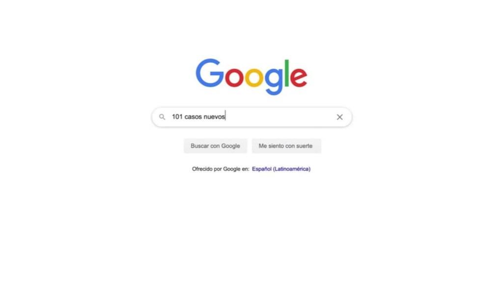 """Google: escribe 3 números + """"casos nuevos"""" y verás qué pasa"""