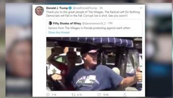 "Repudian retuit de Trump de hombre gritando ""Poder blanco"""
