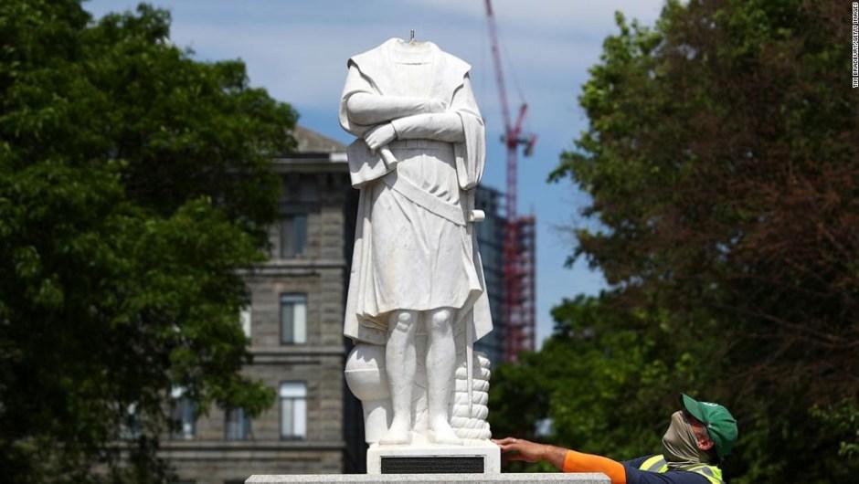 Las estatuas de Cristóbal Colón se están desmontando en todo Estados Unidos. ¿Por qué?