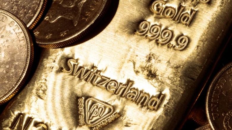 suiza - lingotes de oro