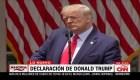 Trump: Los estadounidenses piden ley y orden
