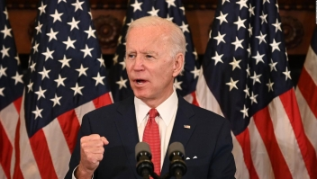 Intención de voto: Biden aventaja a Trump por 15 puntos