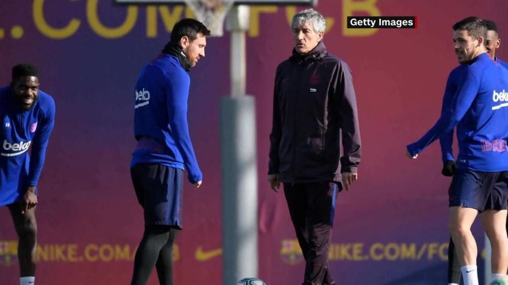 Setién se aparta de especulaciones: Veo bien a Messi