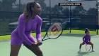 Serena Williams comparte la cancha con su hija