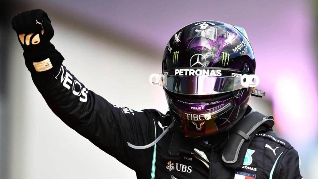 Lewis Hamilton y su celebración simbólica
