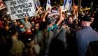 Israelíes protestan en las calles contra Netanyahu