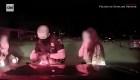 Policía salva de la muerte a una bebé
